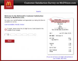 www.mcdvoice.com McDonalds Survey