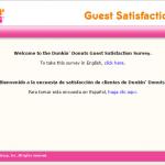 www.telldunkin.com Dunkin Donuts survey homepage