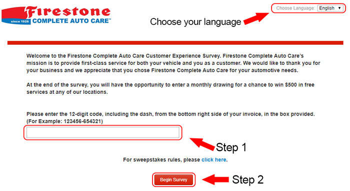 firestone customer survey
