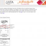 www.survey.ulta.com Ulta Beauty Customer Satisfaction Survey