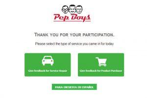 www.pepboyssurvey.com at PepBoys Survey