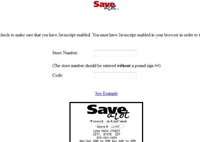 Save a Lot Survey