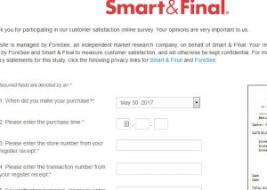 www.smartandfinal.com/survey SmartAndfinal Survey