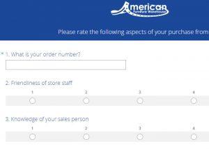 www.afwonline.com American Furniture Warehouse AFWOnline Survey