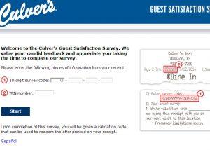 www.tellculvers.com Culver's Survey