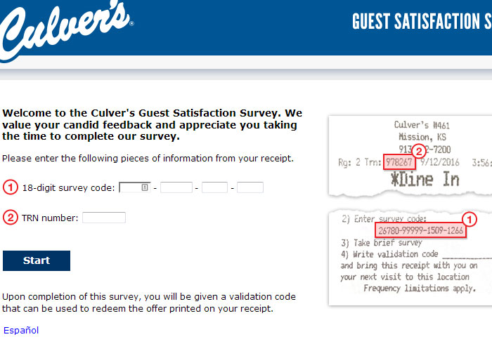 Culver's survey