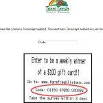 www.farmfreshlistens.com Farm Fresh Survey