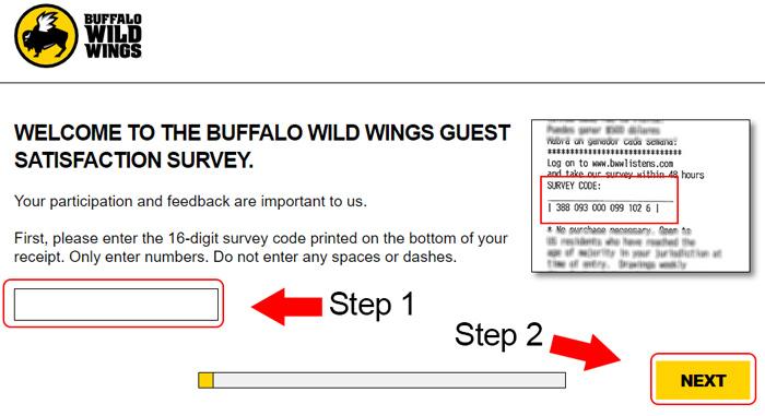 buffalo wild wings customer survey at www.bwwlistens.com