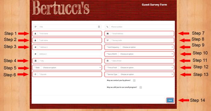 bertuccis customer survey