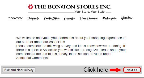 bonton survey start