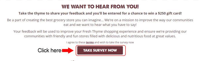 fresh thyme customer survey