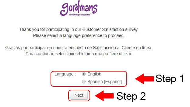 gordmans customer survey