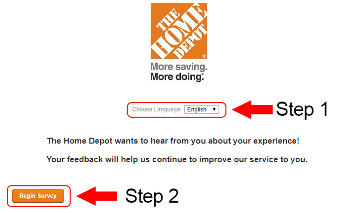 home depot customer survey