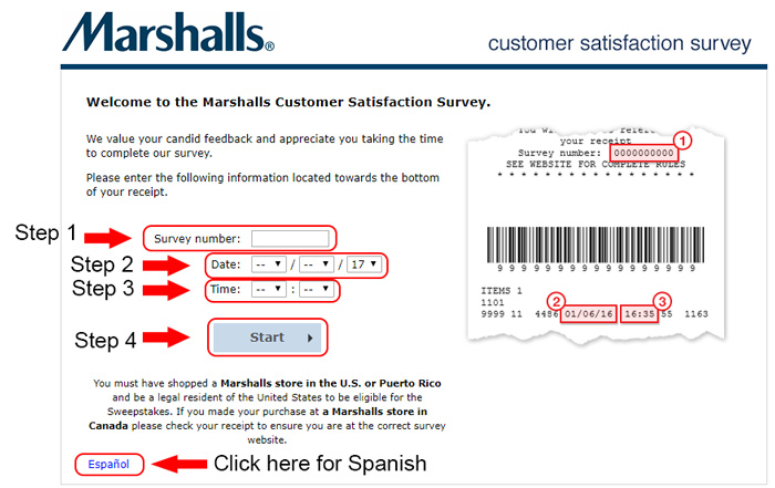 marshalls customer survey