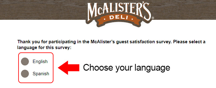 mc alisters deli customer survey