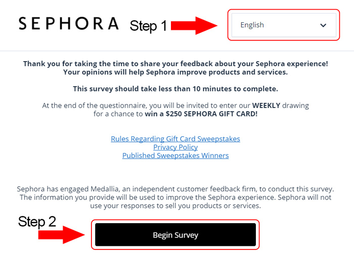 sephora customer survey